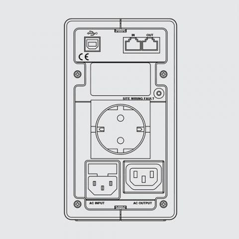 L310002 ИБП Niky 600ВА IEC USB