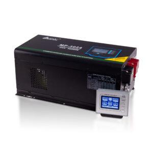 Инвертор, SVC, MP-3024, Мощность 3000ВА/3000Вт, Диапазон работы AVR: 100-290В (режим инвертора), 160-275В (режим ИБП), Вход 24В/220В, Выход 220В/230В, Чистая синусоида, Зарядный ток 45А(макс.), Время переключения режимов